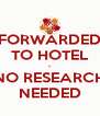 FORWARDED TO HOTEL - NO RESEARCH NEEDED - Personalised Poster A4 size