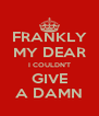 FRANKLY MY DEAR I COULDN'T GIVE A DAMN - Personalised Poster A4 size