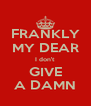 FRANKLY MY DEAR I don't GIVE A DAMN - Personalised Poster A4 size