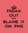 FREAK OUT AND  BLAME  IT ON  PMS - Personalised Poster A4 size