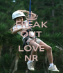 FREAK OUT AND LOVE NR - Personalised Poster A4 size