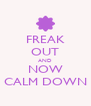 FREAK OUT AND NOW CALM DOWN - Personalised Poster A4 size
