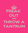 FREAK  OUT AND THROW A TANTRUM - Personalised Poster A4 size