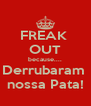 FREAK  OUT because.... Derrubaram  nossa Pata! - Personalised Poster A4 size