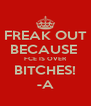 FREAK OUT BECAUSE  FCE IS OVER BITCHES! -A - Personalised Poster A4 size