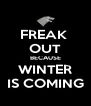 FREAK  OUT BECAUSE WINTER IS COMING - Personalised Poster A4 size