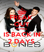 FREAK  OUT BONES   IS BACK IN  2 DAYS  - Personalised Poster A4 size