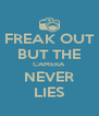 FREAK OUT BUT THE CAMERA NEVER LIES - Personalised Poster A4 size