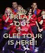 FREAK  OUT 'CAUSE GLEE TOUR IS HERE!! - Personalised Poster A4 size