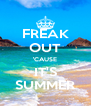 FREAK OUT 'CAUSE IT'S SUMMER - Personalised Poster A4 size