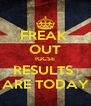 FREAK  OUT IGCSE RESULTS  ARE TODAY - Personalised Poster A4 size