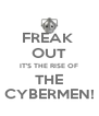 FREAK  OUT IT'S THE RISE OF THE CYBERMEN! - Personalised Poster A4 size