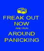 FREAK OUT  NOW AND RUN AROUND PANICKING - Personalised Poster A4 size