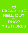 FREAK THE HELL OUT AND DROP THE NUKES - Personalised Poster A4 size