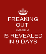 FREAKING OUT  'CAUSE A IS REVEALED IN 9 DAYS - Personalised Poster A4 size