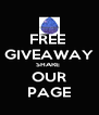 FREE  GIVEAWAY SHARE  OUR PAGE - Personalised Poster A4 size