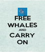 FREE WHALES AND CARRY ON - Personalised Poster A4 size