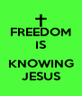 FREEDOM IS  KNOWING JESUS - Personalised Poster A4 size