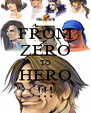 FROM ZERO TO HERO !!! - Personalised Poster A4 size