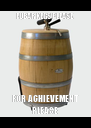 FUBAR KEGS PLEASE FOR ACHIEVEMENT PLEASE - Personalised Poster A4 size
