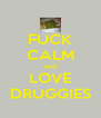 FUCK CALM and LOVE DRUGGIES - Personalised Poster A4 size