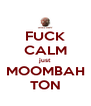 FUCK CALM just MOOMBAH TON - Personalised Poster A4 size
