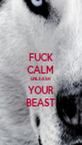 FUCK CALM UNLEASH YOUR BEAST - Personalised Poster A4 size