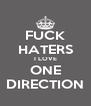 FUCK HATERS I LOVE ONE DIRECTION - Personalised Poster A4 size