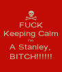 FUCK Keeping Calm I'm A Stanley, BITCH!!!!!! - Personalised Poster A4 size