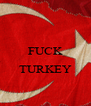 FUCK  TURKEY  - Personalised Poster A4 size