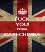 FUCK YOU! PERRA CARECHIMBA  - Personalised Poster A4 size