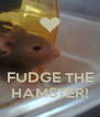 FUDGE THE HAMSTER! - Personalised Poster A4 size