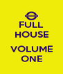 FULL HOUSE  VOLUME ONE - Personalised Poster A4 size