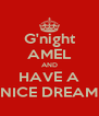 G'night AMEL AND HAVE A NICE DREAM - Personalised Poster A4 size