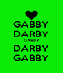 GABBY DARBY GABBY DARBY GABBY - Personalised Poster A4 size