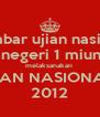 gambar ujian nasional smp negeri 1 miungkid melaksanakan  ujiAN NASIONAL  2012 - Personalised Poster A4 size