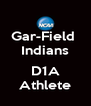 Gar-Field  Indians  D1A Athlete - Personalised Poster A4 size