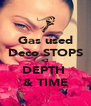 Gas used Deco STOPS <3 DEPTH  & TIME - Personalised Poster A4 size
