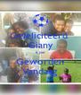 Gefeliciteerd  Giany 6 jaar Geworden Vandaag - Personalised Poster A4 size