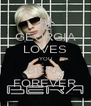 GEORGIA LOVES YOU BERA FOREVER - Personalised Poster A4 size