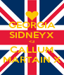 GEORGIA SIDNEYX <3 CALLUM MARTAIN X - Personalised Poster A4 size