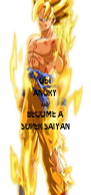 GET ANGRY AND BECOME A SUPER SAIYAN - Personalised Poster A4 size