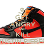 GET  ANGRY AND  KILL JUSTIN BIEBER - Personalised Poster A4 size