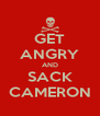 GET ANGRY AND SACK CAMERON - Personalised Poster A4 size