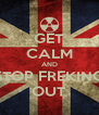 GET CALM AND STOP FREKING OUT - Personalised Poster A4 size
