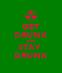 GET DRUNK AND STAY  DRUNK - Personalised Poster A4 size