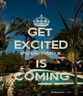 GET  EXCITED POOL PARTY IS COMING - Personalised Poster A4 size