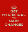 GET HYSTERICAL AND MAKE CHANGES - Personalised Poster A4 size