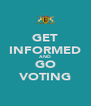 GET INFORMED AND GO VOTING - Personalised Poster A4 size