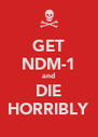 GET NDM-1 and DIE HORRIBLY - Personalised Poster A4 size